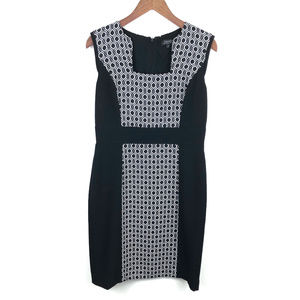 Tahari ASL Black & White Career Sheath Dress